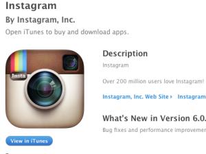 Instagram screen shot