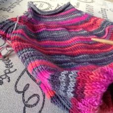 Mauna Kea Sweater knit in SpaceCadet Fervent Kit