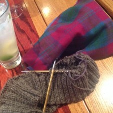 Brother's Vest and my Tartan Bag by Caithness Craft Collective