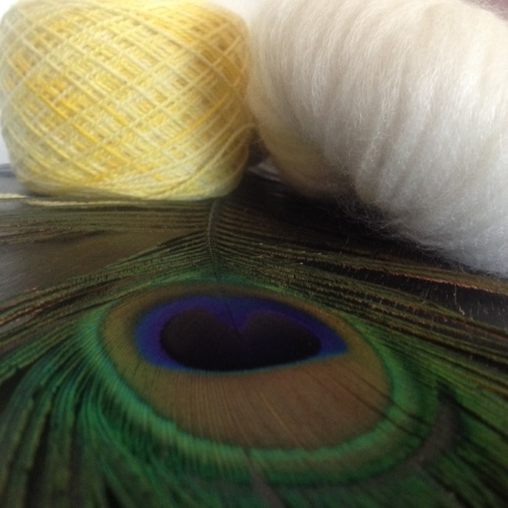 These two different yarns are like sunshine and clouds