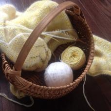 Joyous moments as the knitting progressed
