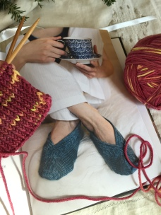 """This has become a """"Special Request"""" pattern and i am enjoying the knitting in Space Cadet Lyra"""